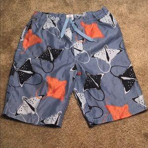 Boys size 5 Gymboree stingray swim shorts